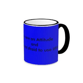 Ich habe eine Haltung Kaffee Tassen