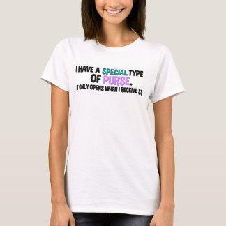 Ich habe eine spezielle Art Geldbeutel T-Shirt