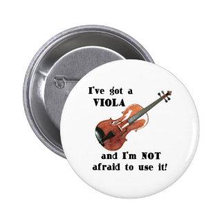 Ich habe eine Viola Anstecknadelbuttons