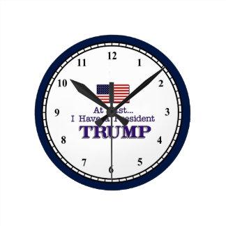 Ich habe einen Präsidenten TRUMP Runde Wanduhr