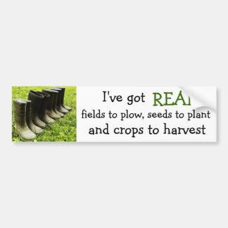 Ich habe einen WIRKLICHEN Bauernhof! - Gumboots Autoaufkleber