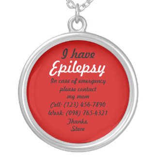 Ich habe Epilepsie-Halskette Halskette Mit Rundem Anhänger