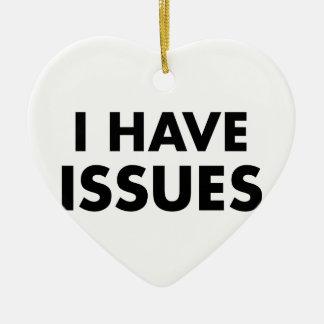 Ich habe Fragen Keramik Herz-Ornament