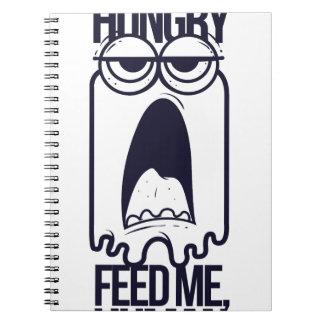 ich habe füttere mich menschlich Hunger Spiral Notizblock