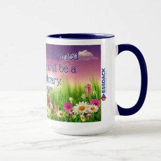 Ich habe immer mich Paradies… Bibliotheks-Tasse Tasse