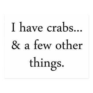 Ich habe Krabben… Postkarte