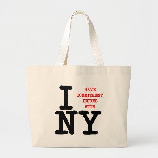 Ich habe Verpflichtungs-Fragen mit NY Leinentaschen
