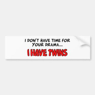 Ich habe Zwillinge Autoaufkleber