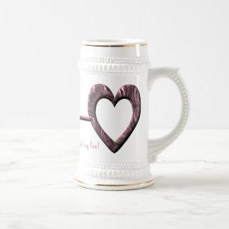Ich halte den Schlüssel zu Ihrem Herzen meine Lieb Tee Tasse