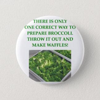 ich hasse Brokkoli Runder Button 5,1 Cm
