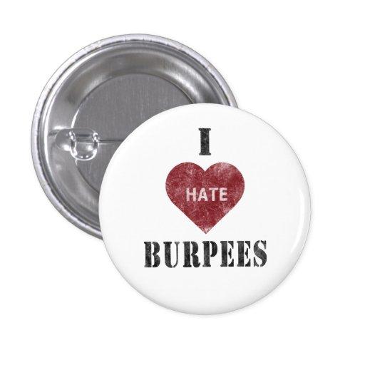 Ich hasse burpees Knopf Anstecknadel