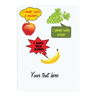 Ich hasse dieses gam - Bananenraserei 12,7 X 17,8 Cm Einladungskarte