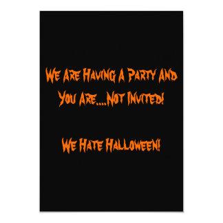 Ich hasse Halloween-Einladung 12,7 X 17,8 Cm Einladungskarte