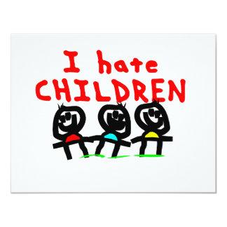 Ich hasse Kinder! 10,8 X 14 Cm Einladungskarte