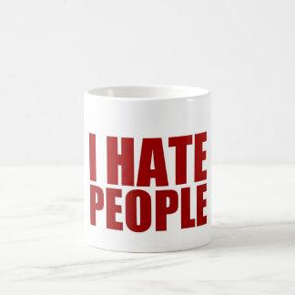 Ich hasse Leute Kaffeetasse