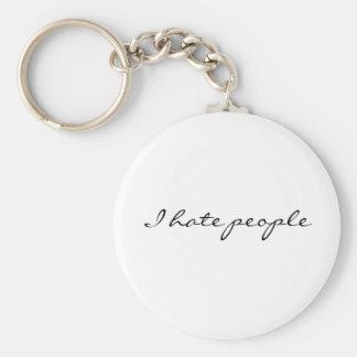 Ich hasse Leute Standard Runder Schlüsselanhänger