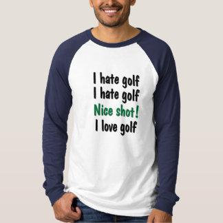 Ich hasse - Liebe-Golf T-Shirt