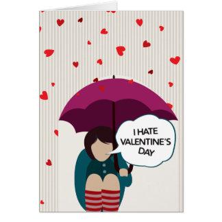 Ich hasse Valentinstag-Karte Mitteilungskarte