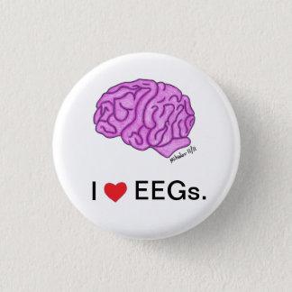 """""""Ich [Herz] EEGs"""" Knopf Runder Button 3,2 Cm"""