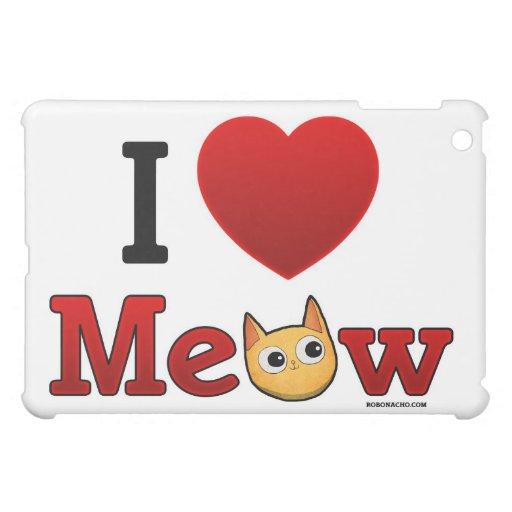 """""""Ich Herz-Katzen-"""" """"ich Liebe-Katzen-"""" Katze iPad  iPad Mini Hüllen"""