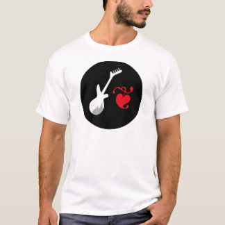 """""""Ich Herz-Rockmusik """" T-Shirt"""