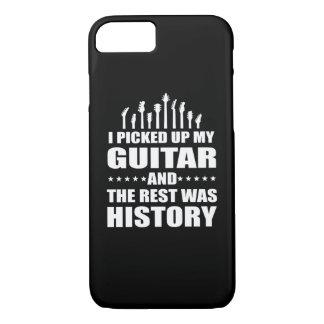 Ich hob Gitarre auf und Erholung war Geschichte iPhone 8/7 Hülle