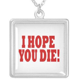Ich hoffe, dass Sie die Halskette Mit Quadratischem Anhänger