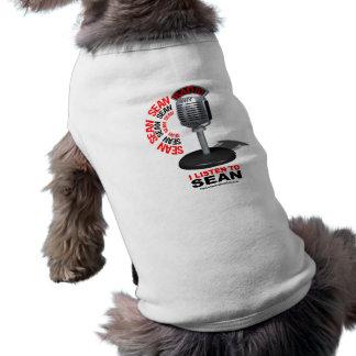 Ich höre auf Sean Ärmelfreies Hunde-Shirt