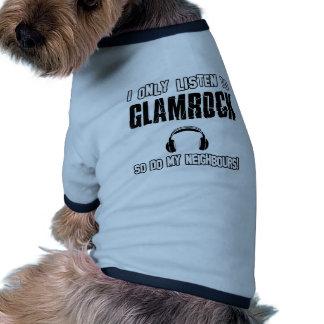 Ich höre nur zu GLAMROCK Hund T Shirts