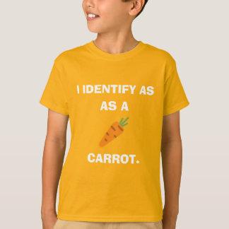 Ich identifiziere als Karotte T-Shirt