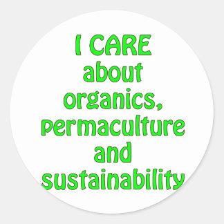 Ich interessiere mich für organische Produkte Sticker