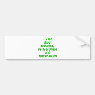 Ich interessiere mich für organische Produkte Autosticker