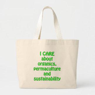 Ich interessiere mich für organische Produkte Einkaufstaschen