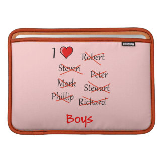 'Ich ♥ Jungen MacBook Air Sleeve