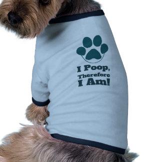Ich kacke deshalb mich bin lustige Hundezitate Ringer Hunde-Shirt