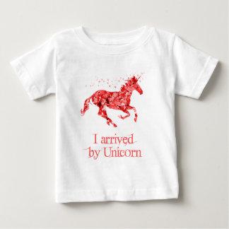 Ich kam durch Einhorn an Baby T-shirt