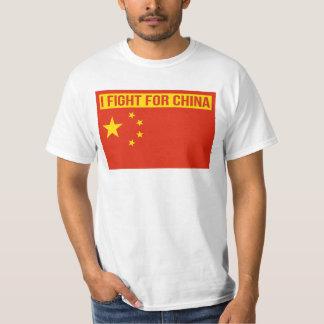 Ich kämpfe für China - Flagge der China - T-Shirt