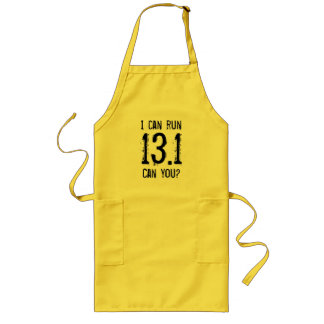 Ich kann 13,1 laufen lassen -- Können Sie? Lange Schürze