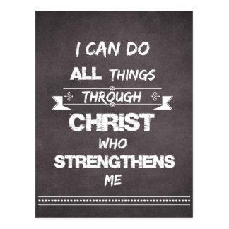 Ich kann alle Sachen durch Christus-Bibel-Vers tun Postkarten