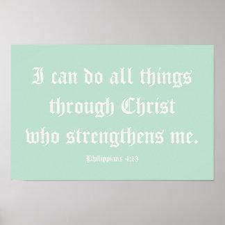 Ich kann alle Sachen durch Christus tun. Plakat