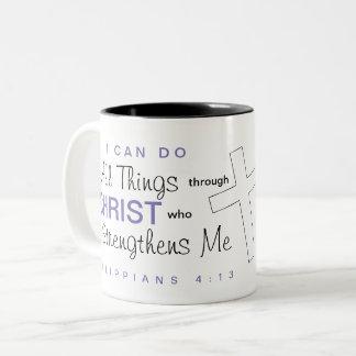 """""""Ich kann alle Sachen durch Christus tun"""" Tasse"""