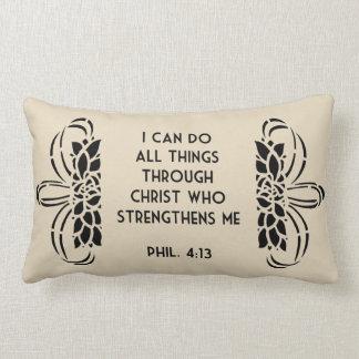 Ich kann alle Sachen durch Christuslumbar-Kissen Lendenkissen