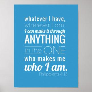 Ich kann alle Sachen, Philippians-4:13 tun Poster
