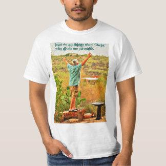 Ich kann alles Sachen Thro Christus T-Shirt tun
