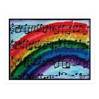Ich kann einen Regenbogen singen Postkarte