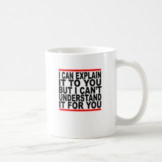 Ich kann es für Sie erklären, aber ich kann es Kaffeetasse