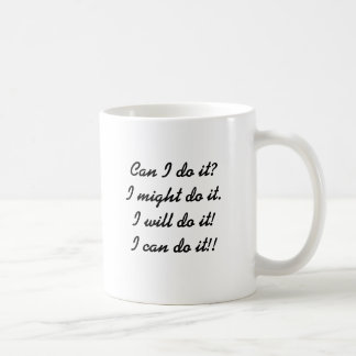 Ich kann es tun!! kaffeetasse