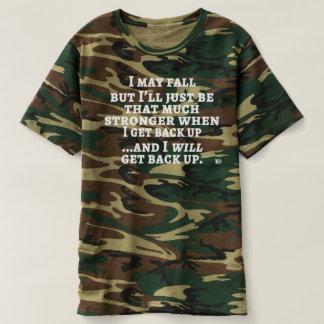 Ich kann fallen… das T-Stück der Camouflagemänner T-shirt