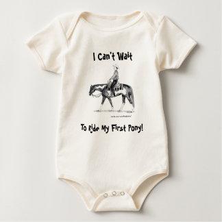 Ich kann nicht warten, um mein erstes Pony zu Baby Strampler