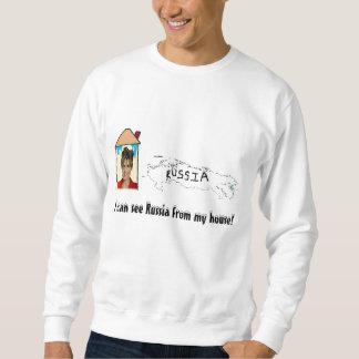 ich kann Russland von meinem Haus sehen! Sweatshirt